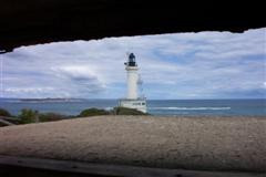 Point Lonsdale Lighthouse, taken from a disused bunker